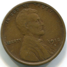 1912 S Lincoln Cent XF40