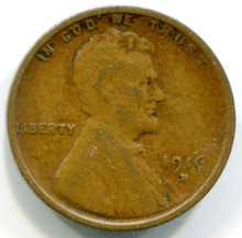 1916 D  Lincoln Cent VF
