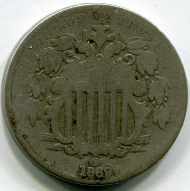 1869 Shield Nickel G