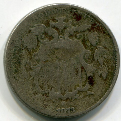 1873 Shield Nickel  AG