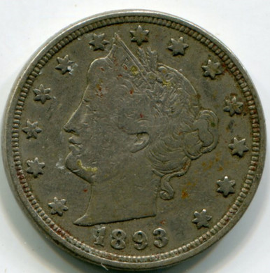 1893 Liberty Nickel VF25