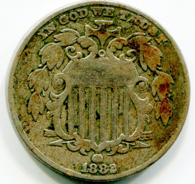 1882 Shield Nickel, F