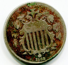 1868 Shield Nickel,  G