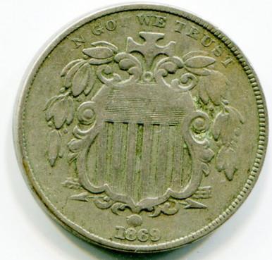 1869 Shield Nickel, G