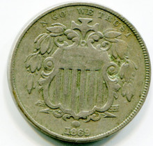1869 Shield Nickel, G