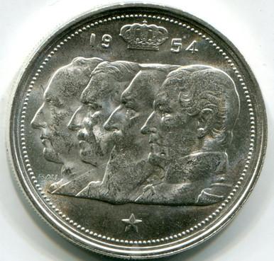 1954 Belgium 100 Francs km138.1 UNC