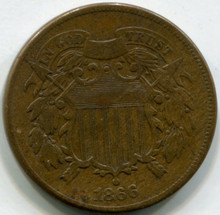 1866  Two cents  VG