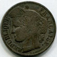 1850 A France 50 Cents KM769.1 VF