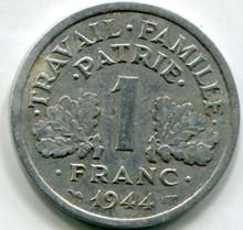 1944 C France  1 Franc  VF