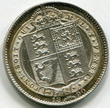 1890 Great Britain  1 Shilling UNC