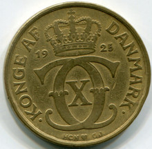 1925 Denmark  2 Kroner  Km825.1  VF