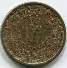 1937 Mexico 10  Cents KM432