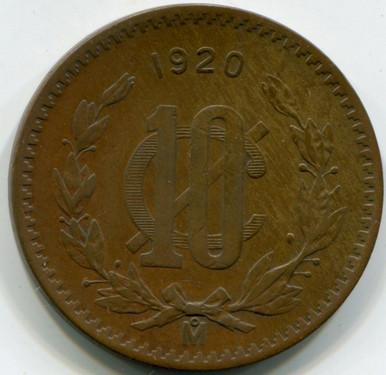 1920 Mexico 20  Cents KM437   VF