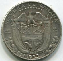 1933 Panama 1/10 Balboa KM10.1 XF
