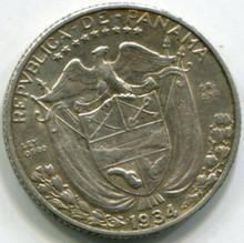 1934 Panama 1/10 Balboa KM10.1 XF