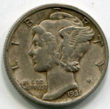 1931 S  Mercury Dime XF/40