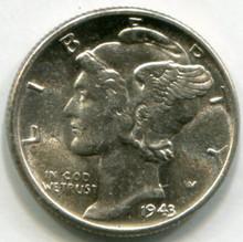 1943  Mercury Dime MS61