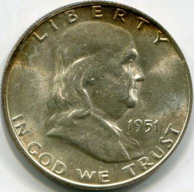 1951 S  Franklin Half Dollar  MS61