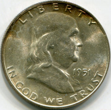 1951 S  Franklin Half Dollar  MS61