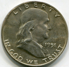 1951 D  Franklin Half Dollar  MS63