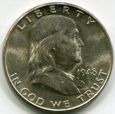 1948  D Franklin Half Dollar  MS61