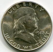 1948  D Franklin Half Dollar  MS67
