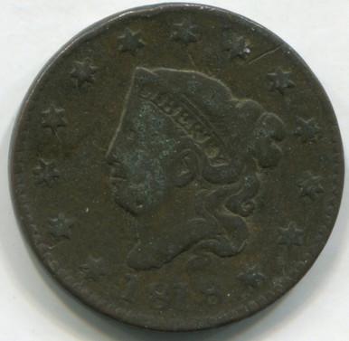 1818 Large Cent  F