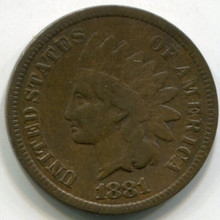 1881 Indian Cent  VG