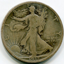 1917 D Walking Liberty Half Dollar G