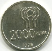 1978 Argentina $200 Pesos KM#79 Proof  .434 ASW