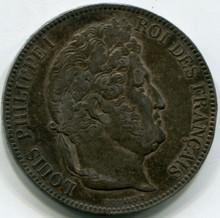 1843 W France  5 Francs KM#749.13  XF