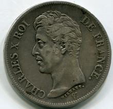 1826 I France 5 Francs KM#720.6  VF30