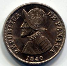 1940 Panama 2 1/2 Centesimos  KM#16  UNC