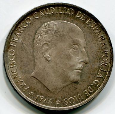 1966 (66) Spain 100 Pesetas KM#797 UNC  .4887 ASW