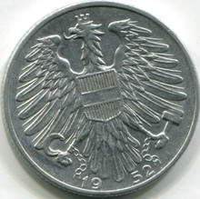 1952 Austria 5 Shillings KM#2879  AU