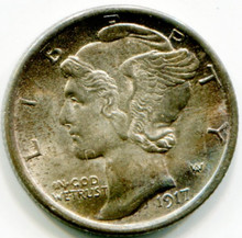 1917 Mercury  Dime MS65