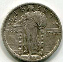 1918 Standing Liberty Quarter AU