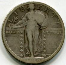 1918 S Standing Liberty Quarter F