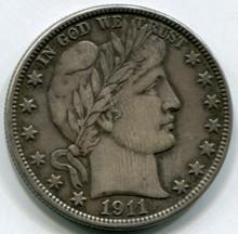1911 S Barber Half Dollar  XF