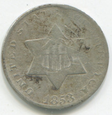 1853  Three Cents , G