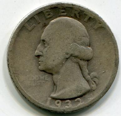 1932 D Washington Quarter  F