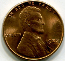 1937 Lincoln Wheat Penny MS66