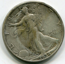 1934 S  Walking Liberty Half Dollar  VF-30