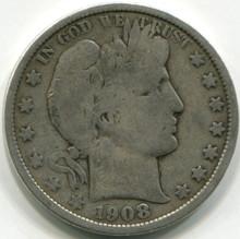 1908 O Baber Half Dollar  VG10