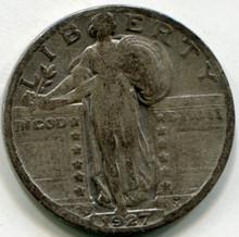 1927 S Standing  Liberty Quarter VG