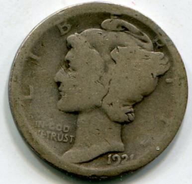 1921 Mercury Dime AG