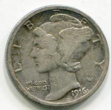 1916 S  Mercury  Dime  XF