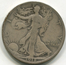 1918 Waking Liberty Half Dollar F15