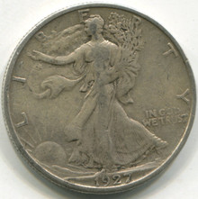 1927 S Waking Liberty Half Dollar VF20