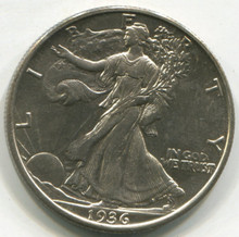 1936 D Waking Liberty Half Dollar MS60